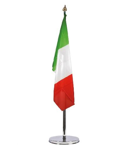 Kit in ottone cromato porta bandiere da interno bandiere personalizzate - Porta bandiere da tavolo ...